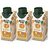 Green-Bag Bio Orangensaft Konzentrat zum Selbermischen mit Wasser - 3x 200ml Fruchtsaftkonzentrat = 3l Fruchtsaft aus frischen Orangen | 100% natürlich Frucht Saft ohne Zucker Saftkonzentrat Getränk