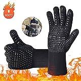 iToncs Grillhandschuhe Grill Ofenhandschuhe, Hitzefeste BBQ Handschuhe Topfhandschuhe 800℃ / 1472℉Anti-Rutsch KochenHandschuhe Silikon Küchenhandschuhe für BBQ, Kochen, Backen, Schweißen (1 Paar)