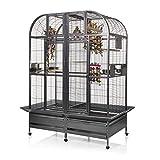 Montana Cages ® | Papageienkäfig mit Trennwand XXL Chicago - Antik Käfig, Voliere für Papageien
