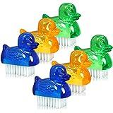 com-four® 6X Mini Handwaschbürsten im Enten-Design - Nagelbürste für Hand und Nagel Reinigung (6 Stück - Enten)