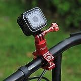 PULUZ 360 Grad Rotation Aluminium Fahrradlenker Adapterhalterung mit Schraube für GoPro Hero 6/5 / 4/4 / 3+ / 3/3/ 2/1 Session 5/4, Xiaoyi Sportkamera