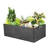 ZoneYan Quadratisch Pflanztaschen, Vliesstoff Pflanzsack Quadratische Pflanztasche mit Griff, gefühlt für Die Gartenpflanzung, Garten-Wachstumstüten