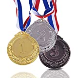 Onepine 3 Stücke Preis Medaillen Gold Silber Bronze Gewinner Medaille Erster Zweiter Rang Medaillen Medaillen für Champions mit Band