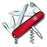 Victorinox Taschenmesser Camper (13 Funktionen, Klinge, Korkenzieher, Säge, Zahnstocher) rot