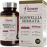 Boswellia Serrata Weihrauch-Kapseln | Hochdosiert 5:1 (entspricht 2000 mg) | 120 Kapseln | STARK ENTZÜNDUNGSHEMMEND | Muskel- & Gelenkgesundheit | Vorrat für 4 Monate | Hergestellt in GB