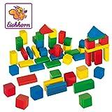 Eichhorn 50 bunte Holzbausteine in Aufbewahrungsbox mit Sortierdeckel, FSC 100% zertifiziertes Buchenholz, Holzbausteine hergestellt in Deutschland, Motorikspielzeug geeignet für Kinder ab 1 Jahr