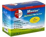 Swiss Point Of Care Mission 3 in 1 Teststreifen und weiteres Messzubehör   25 Cholesterin Teststreifen, inkl. 25 Transferschläuche, 1 Codechip, 1 Geräteeinsatz