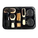 Tolyneil 8 stücke schuh reinigungsset,Tragbare Schuhpflege Kit Schuhputzmittel Pflege Kit Polnischen Reinigungsbürsten Schwammtuch Reise Set Mit Fall