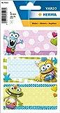 HERMA 5513 Buchetiketten 'Kleine Monster' selbstklebende Heftetiketten mit Motiven für die Schule für Kinder, Mädchen und Jungen, 9 Schuletiketten