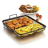 GOURMETmaxx Grillkorb Heißluft für Backofen (Edelstahl-Grillkorb für fettarmes Heißluft-Garen im Ofen)