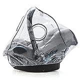 Universal Komfort Regenschutz für Babyschale (z.B. Maxi-Cosi / Cybex / Römer) - gute Luftzirkulation, verschließbares Kontakt-Fenster, Eingriffsöffnung für Tragegriff, PVC-frei