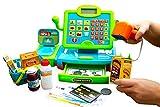 Think Gizmos Interaktive Kasse Kinder- Kaufladen-Kasse Spielzeug für Kinder – Kaufladen Zubehör Spielkas-se Kinder mit Scanner - Geld - Lebensmittel und Einkaufskorb - TG802