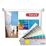 ADLER Ultra-Color Wandfarbe - Volltonfarbe und Abtönfarbe in 100+ Farbtönen - Atmungsaktiv, Hochdeckend, Lösungsmittelfrei - Grün - 1L