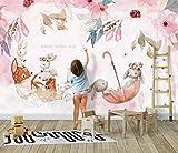 wandbild schlafzimmer Pink Elk kostenlose Kindertapeten Wandbilder Zuhause Kinderzimmer Hintergrund Wanddekoration Tapete 250×175cm