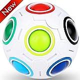 Nasharia Magic Ball, Regenbogenball Erwachsene und Kinder Geschicklichkeitsspiel, Puzzle Zauberball Tolles Mitgebsel für Kindergeburtstag Gastgeschenk Spielzeug, auch als Stressball oder Knobelspiel