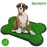 Hundetoilette, Hundeklo Hunde Toilette Echtem Rasen Welpentoilette Trainingsunterlage für Kleine Hunde Grosse Hunde ältere Hunde Tier WC Indoor 70 x 45x 4(L x B x H) cm