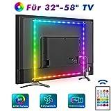 Led TV Hintergrundbeleuchtung, MYPLUS 2M USB Led Beleuchtung mit Fernbedienung Und DIY Farbwechsel RGB LED Streifen für 32-58 Zoll HDTV,TV,PC Bildschirm