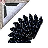 Antirutschmatte für Teppich, 24 Stück Teppichgreifer Antirutschmatte,Teppich rutsch Stop, Wiederverwendbar Teppich Aufkleber für Hartholzböden、Teppiche und Matten(Schwarz)