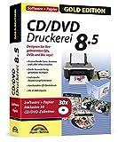 CD/DVD Druckerei 8.5 inkl. 30 CD/DVD Etiketten Gratis - CD/DVD und Blu-ray Covers gestalten - Für Windows 10 / 8.1 / 8 / 7 / Vista