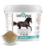 Ida Plus – Bierhefe Bt 6kg – Pulver für Pferde & Ponys – Nahrungsergänzung für glänzendes Fell, kräftige Haut & Gute Hornstruktur - reich an B-Vitaminen, Mineralien & Spurenelementen – Naturprodukt