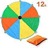 Magicfly 3.5M schwungtuch Parachute Fallschirm Spielzeug für Kinder mit Multi-Farben