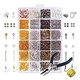 YULIN Schmuck Basteln Zubehör, 2758tlg Schmuckherstellung Set Schmuck Reparatur Werkzeug Kit in 26 Arten für Ohrringe Armband Halskette DIY Anfänger