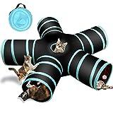 Katzenspielzeug Katzentunnel, Katze Spielzeug Hundenspielzeug Spieltunnel 5-Wege Pet Play Tunnel Tube  für Katze, Welpe, Kitty, Kätzchen, Kaninchen