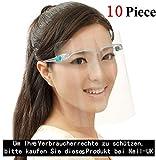 Visier Gesichtsschutz Brille Full Face Shield Stoff Schutzvisier Gesichtsvisier Face Shields Voll Gesichtsschutz aus Kunststoff SchutzschildGesicht für Männer Frauen (10 Pack)