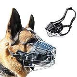 Supet Metall Maulkorb Hunde Maulkörbe Ledermaulkorb für Groß Hunde Beißen und Kauen abzuhalten Giftköderschutz für Meistens Hunde