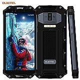 Outdoor Handy Ohne Vertrag,OUKITEL WP2 wasserdichte Smartphone 6.0 Zoll 4G Dual SIM IP68 Rugged Smartphone Stoßfest Staubdicht,10000mAh Akku Android 8.0 64GB ROM 3 Kameras Smartphones,Schwarz