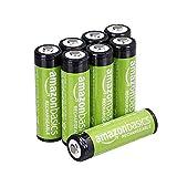 AmazonBasics AA-Batterien, wiederaufladbar, vorgeladen, 8 Stück (Aussehen kann variieren)
