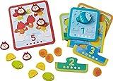 HABA 301530 - Zuordnungsspiel Tierischer Zählspaß, Sortier- und Zahlenspiel mit 5 zweiteiligen Motivkarten, 15 Holzbausteine, Spielzeug aus Holz und Pappe ab 18 Monaten