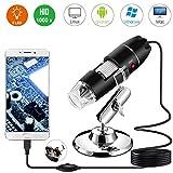 USB Digital Mikroskop, Bysameyee Handheld 40X-1000X Vergrößerung Endoskop, 8 LED Mini Videokamera für Windows 7/8/10 Mac Linux Android (mit OTG)