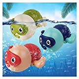 AOLUXLM Badespielzeug Baby ab 1 Jahr, Wasserspielzeug Kinder Bandewanne, Badewannenspielzeug Pool Spielzeug für Kinder, Aufziehspielzeug badewanne Schwimmender Tauchpartner