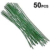50 Stück Pflanzstützen grün Pflanzstäbe 60 cm ca. Ø 5 mm