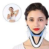 Cervicalstütze Halskrause mit Kinn stütze Verstellbare Nackenstütze Hals Traktion Zervikale Traktionsfixierung Wirbelsäule Pflege Korrektur Schutz Schmerzlinderung