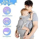 Lictin Babytrage Bauchtrage 3,5-20kg für Neugeborene 6 in 1 Ergonomische Baby Trage für alle Jahreszeiten mit CE Zertifizierung