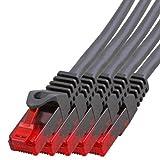 BIGtec - 5 Stück - 5m Gigabit Netzwerkkabel Patchkabel Ethernet LAN DSL Patch Kabel schwarz (2X RJ-45 Anschluß, CAT.5e, kompatibel zu CAT.6 CAT.6a CAT.7) 5 Meter