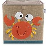 Lifeney Kinder Aufbewahrungsbox I praktische Aufbewahrungsbox für jedes Kinderzimmer I Kinder Spielkiste I Niedliche Spielzeugbox I Korb zur Aufbewahrung von Kinder Spielsachen (Krebs dunkel)