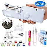 Homealexa Handnähmaschine Mini Handheld Nähmaschine Tragbar Elektrische Handnähmaschine Schneller Handlicher Stich für Stoff Kleidung Kindertuch