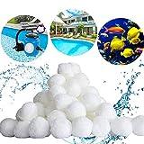 Miamasvin Filter Balls 700g Filtermaterial für Poolpumpe, Filteranlagenzubehör, 8 Liter Filter Balls Pool Filterkessel Sandfilter 25 kg Filtersand (Weiß) (700g)