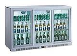 Flaschenkühlschrank mit 3 Klapptüren Kühlschrank Getränkekühlschrank Gewerbekühlschrank 300 Liter Gastrokühlschrank