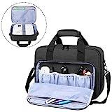 Luxja Beamer Tasche, Tragbar Projektor Tasche für Transport und Aufbewahrung Beamer (Kompatibel mit Epson, Acer, Optoma und andere Beamer), 34,3 cm x 25,4 cm x 10,8 cm, Schwarz