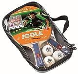 JOOLA Tischtennis-Set Duo Bestehend aus 2 Tischtennisschläger + 3 Tischtennisbälle + 1 Aufbewahrungstasche, mehrfarbik, one size