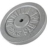 GORILLA SPORTS® Hantelscheiben Gusseisen 2 kg - Gewichte mit 30/31 mm Bohrung in Silber