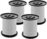 S SIENOC Expanderseil Gummiseil Gummischnur Spannseil Planenseil Gummileine elastisches Seil spannen Gummikordel und befestigen Gummileine Seil (Weiß + Schwarz, 4 mm - 10 m)