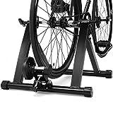 COSTWAY Rollentrainer aus Stahl, Cycletrainer klappbar, Fahrrad Heimtrainer für Indoor Fahrradtraining, Fahrradtrainer bis zu 150 KG belastbar schwarz