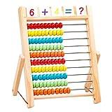 jojofuny Holz Abakus Mathe Spielzeug Holz Perle Abakus Pädagogische Zählspielzeug Chinesischer Rechner Mathe Berechnungswerkzeug für Kinder Erwachsene 650G