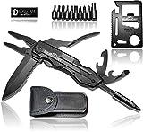 BERGGEIST Multi-Tool Survival Taschenmesser Set aus Edelstahl   Klappmesser & Zange   Inklusive EDC Kreditkartenmesser   [2020]