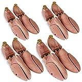 Jago Schuhspanner aus Holz in Größen 37 38 39 40 41 42 43 44 45 46 47 48 - Zedernholz und Aluminium, mit Spiralfeder - Schuhstrecker, Schuhdehner, Schuhweiter, Schuhform